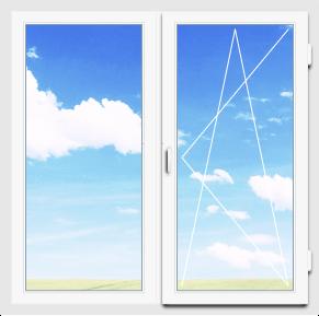 Двухстворчатое окно 130×140