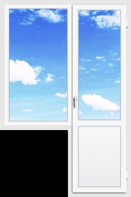 Балконный блок 80×142 + 70×216