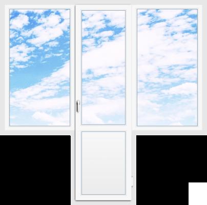 Балконный блок 146×142 + 70×216